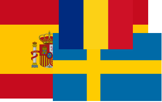 The flag of the fictitious state of Rospaden
